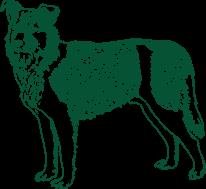 Ilustração de um cachorro